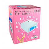 Ультрафиолетовая лампа для наращивания ногтей UV Lamp 36 Watt ZH-818, фото 3