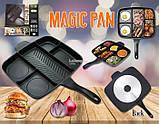 Сковорода гриль с антипригарным покрытием Magic Pan на 5 секций, фото 5