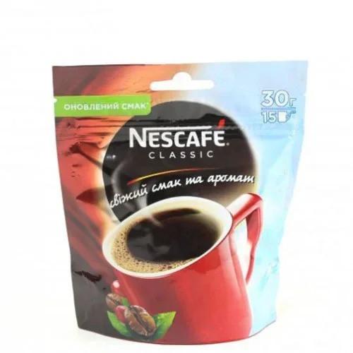 Кофе Nescafe Классик растворимый 30 грамм в мягкой упаковке
