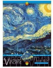 Тетрадь А5, 72 л.,«Картины» клетка,офсет.,поролон