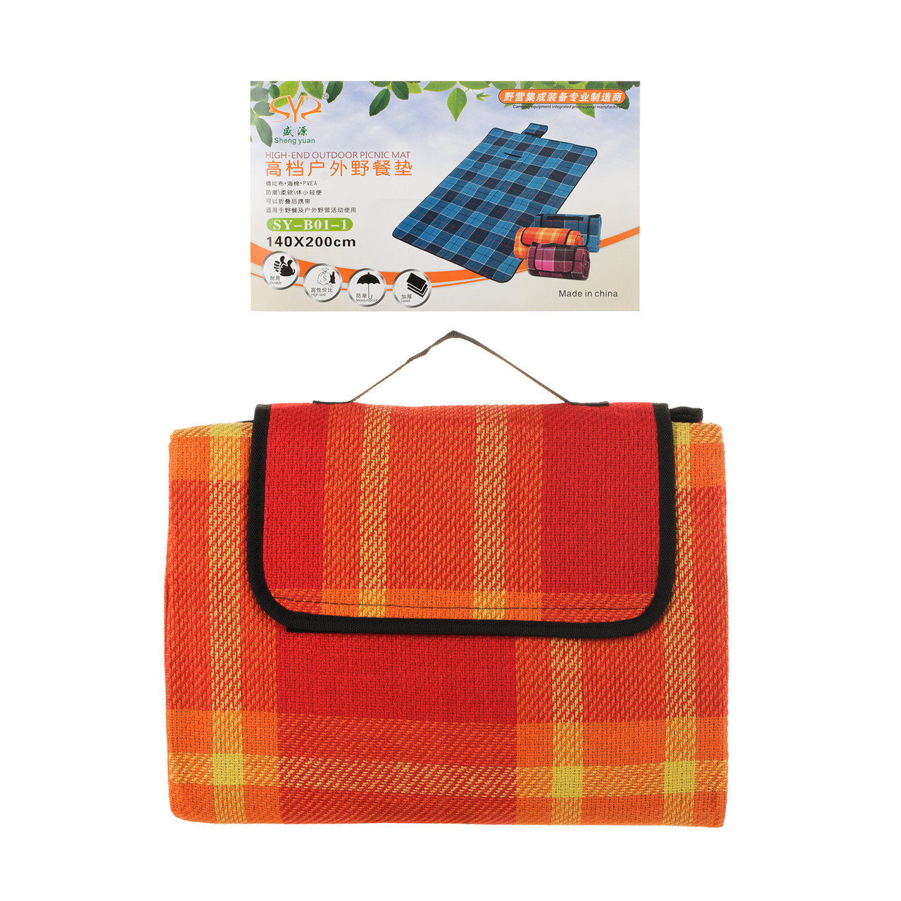Водонепроницаемый коврик для пикника кемпинга и пляжа 140*200 см
