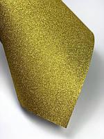 Картон с глиттером (блестками), золото