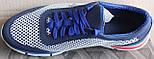 Кроссовки мужские сетка кожаные (нубук) от производителя модель ЭД12, фото 4