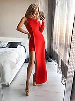 Платье вечернее,смелая ассиметрия,короткое-длинное,с рукавом и без,2 цвета,ХС С М