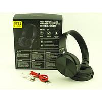 Бездротові навушники гарнітура bluetooth MDR ST12 BT, фото 1