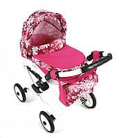 Игрушечная детская коляска для куклы Adbor Lily 20, 70х45х60 см, розовая