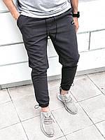 Мужские спортивные штаны с манжетом черного цвета