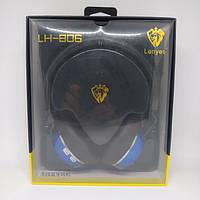 Беспроводные Bluetooth наушники Lenyes LH-806 Чёрный с синим, фото 1