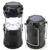 Кемпинговая LED лампа G 85 c POWER BANK Фонарь фонарик солнечная панель Чёрная, фото 1