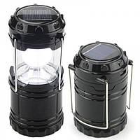 Кемпінговий LED лампа G 85 c POWER BANK Ліхтар ліхтарик сонячна панель Чорна, фото 1