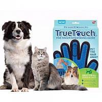Перчатка для животных вычесывания True Touch Pet Brush Gloves, фото 1