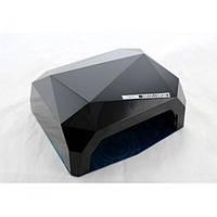 УФ лампа для наращивания ногтей на 36 Вт Beauty nail CCF + Led сенсор гель, лак Чёрная