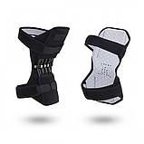 Поддержка коленного сустава Power Knee Defenders|Усилитель-фиксатор коленного сустава черный, фото 2