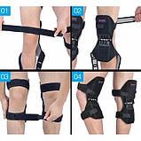 Поддержка коленного сустава Power Knee Defenders|Усилитель-фиксатор коленного сустава черный, фото 5