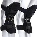Поддержка коленного сустава Power Knee Defenders|Усилитель-фиксатор коленного сустава черный, фото 7