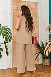 Стильный летний костюм блуза + брюки, сочетается с любой обувью р.48-50,52-54,56-58,60-66, 3 цвета 3336Ф, фото 3