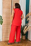 Стильный летний костюм блуза + брюки, сочетается с любой обувью р.48-50,52-54,56-58,60-66, 3 цвета 3336Ф, фото 6