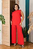 Стильный летний костюм блуза + брюки, сочетается с любой обувью р.48-50,52-54,56-58,60-66, 3 цвета 3336Ф, фото 5