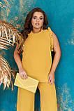 Стильный летний костюм блуза + брюки, сочетается с любой обувью р.48-50,52-54,56-58,60-66, 3 цвета 3336Ф, фото 8
