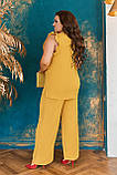 Стильный летний костюм блуза + брюки, сочетается с любой обувью р.48-50,52-54,56-58,60-66, 3 цвета 3336Ф, фото 10