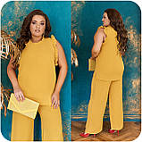 Стильный летний костюм блуза + брюки, сочетается с любой обувью р.48-50,52-54,56-58,60-66, 3 цвета 3336Ф, фото 7