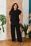 Невероятно стильный и комфортный летний женский костюм блуза + брюки. р.48-50,52-54,56-58,60-66, 3 цвета 3337Ф, фото 6