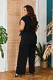 Невероятно стильный и комфортный летний женский костюм блуза + брюки. р.48-50,52-54,56-58,60-66, 3 цвета 3337Ф, фото 7