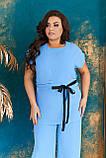 Невероятно стильный и комфортный летний женский костюм блуза + брюки. р.48-50,52-54,56-58,60-66, 3 цвета 3337Ф, фото 2