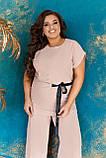 Невероятно стильный и комфортный летний женский костюм блуза + брюки. р.48-50,52-54,56-58,60-66, 3 цвета 3337Ф, фото 9