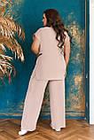 Невероятно стильный и комфортный летний женский костюм блуза + брюки. р.48-50,52-54,56-58,60-66, 3 цвета 3337Ф, фото 10