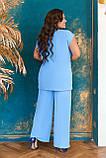 Невероятно стильный и комфортный летний женский костюм блуза + брюки. р.48-50,52-54,56-58,60-66, 3 цвета 3337Ф, фото 4
