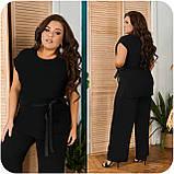 Невероятно стильный и комфортный летний женский костюм блуза + брюки. р.48-50,52-54,56-58,60-66, 3 цвета 3337Ф, фото 5