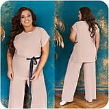 Невероятно стильный и комфортный летний женский костюм блуза + брюки. р.48-50,52-54,56-58,60-66, 3 цвета 3337Ф, фото 8