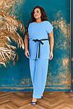 Невероятно стильный и комфортный летний женский костюм блуза + брюки. р.48-50,52-54,56-58,60-66, 3 цвета 3337Ф, фото 3
