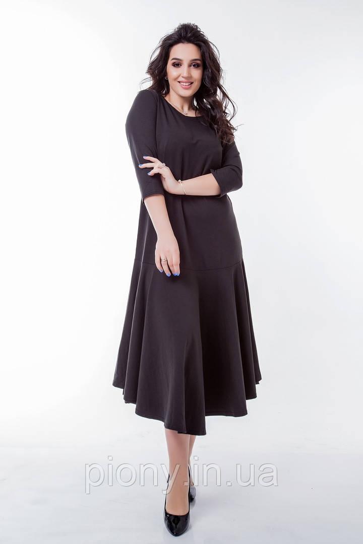 Женское Платье из трикотажа Батал