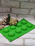 Силиконовая форма полусфера на 8 ячеек 29*17*2,5 см.,90/75 (цена розничная за 1 шт. + 15 гр.), фото 3