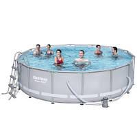 Круглый каркасный бассейн Bestway 56451 (488х122 см), фото 1