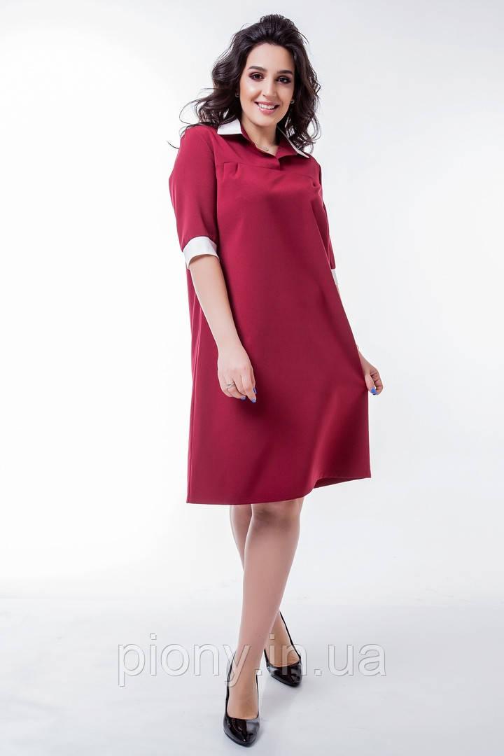 Женское Платье Поло Батал