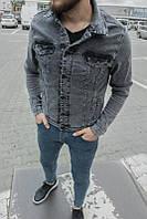 Мужской джинсовый пиджак (темно-серый) - Турция 100597