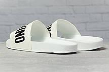 Шлепанцы женские 17391, Moschino, белые, [ 37 38 ] р. 37-23,8см., фото 2