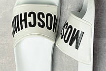 Шлепанцы женские 17391, Moschino, белые, [ 37 38 ] р. 37-23,8см., фото 3