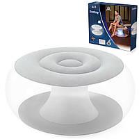 Надувное кресло Bestway 75085, 82*82*41 см, с LED подсветкой, белое