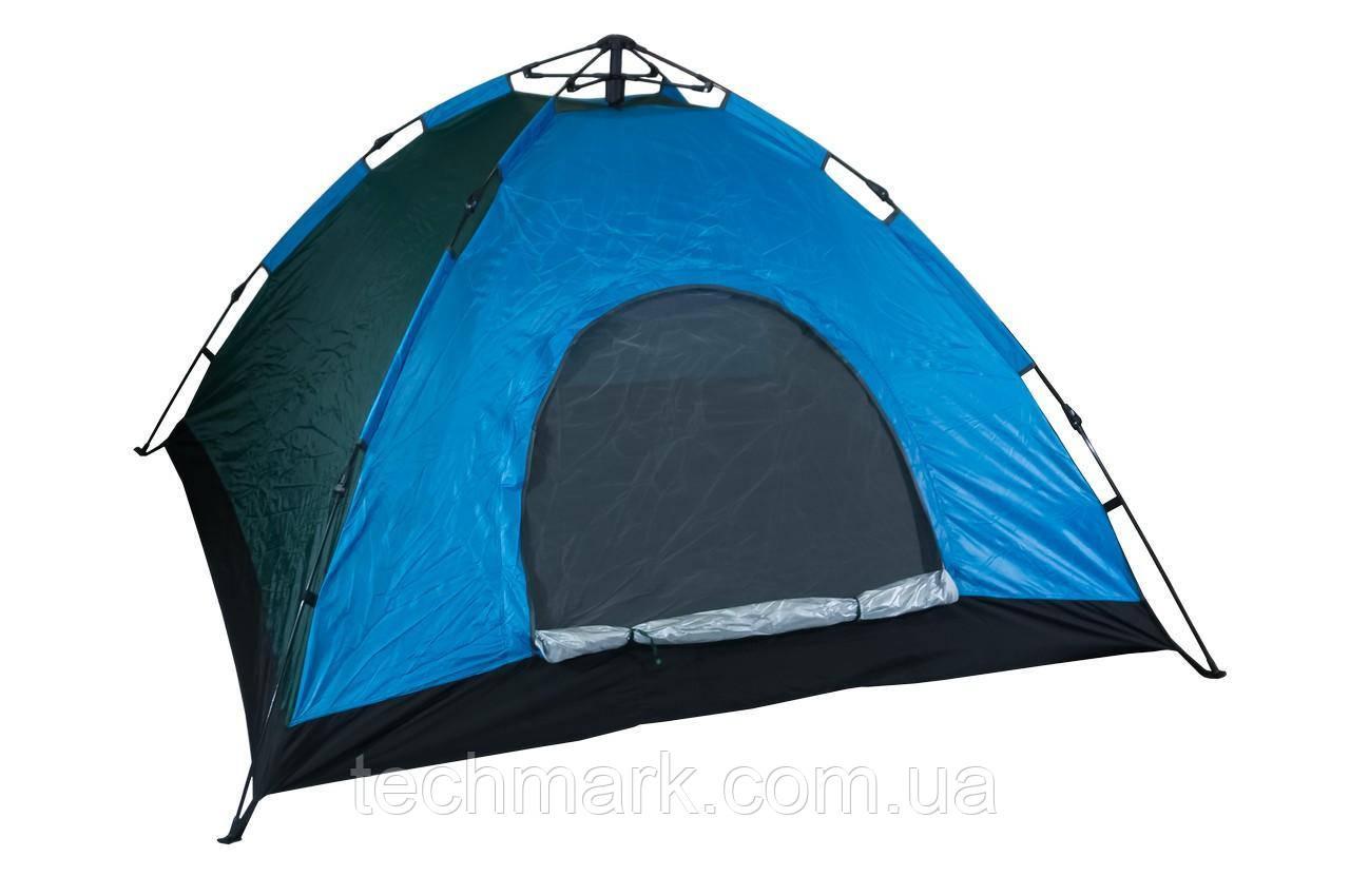 Палатка автоматическая D&T - 2,3 x 2,3 м 4-х местная водонепроницаемая для кемпинга, рыбалки Синий