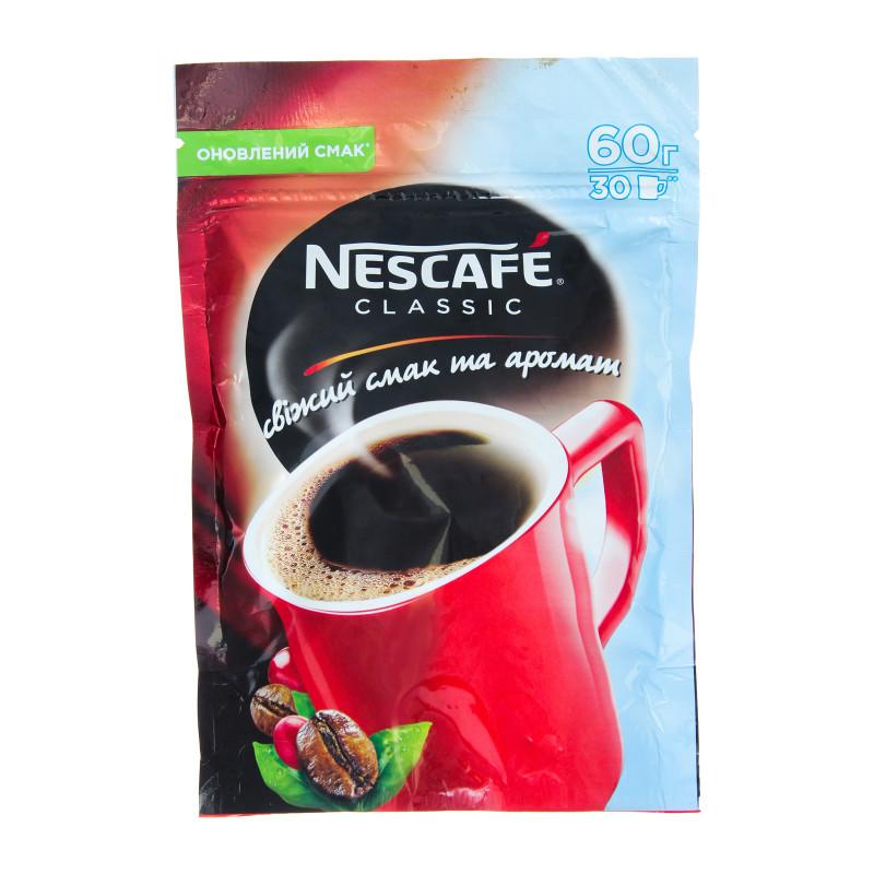 Кофе Нескафе Классик растворимый 60 грамм в мягкой упаковке