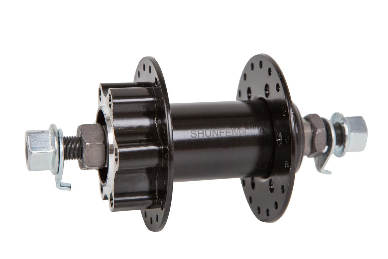 Втулка велосипедная передняя SHUNFENG SF-H25F (36H, под дисковый тормоз)