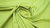 Одежная ткань софт однотонный оливково-желтый