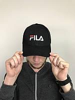 Кепка бейсболка мужская Fila Фила (черный цвет)