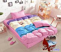 Комплект постельного белья цветной полуторный Color mix APT004