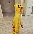 Детская пижама Кигуруми Покемон Пикачу 130 (на рост 128-138см), фото 3