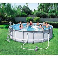 Круглий каркасний басейн 56451 (488х122 см)